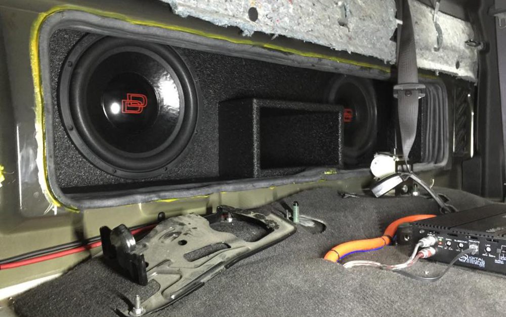 Audio Depot Custom Build with Subs and Amp mid build