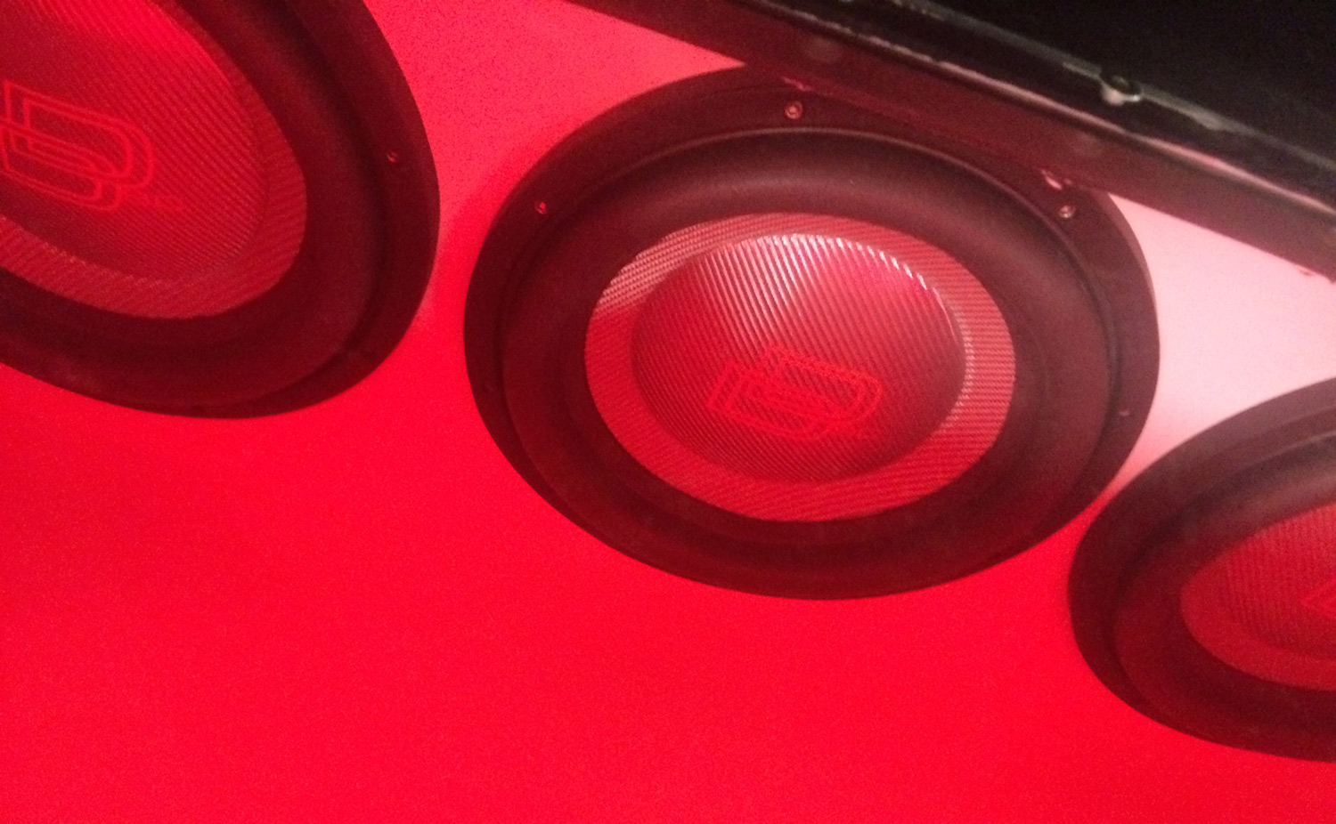 GMC Sierra Subwoofers Up Close