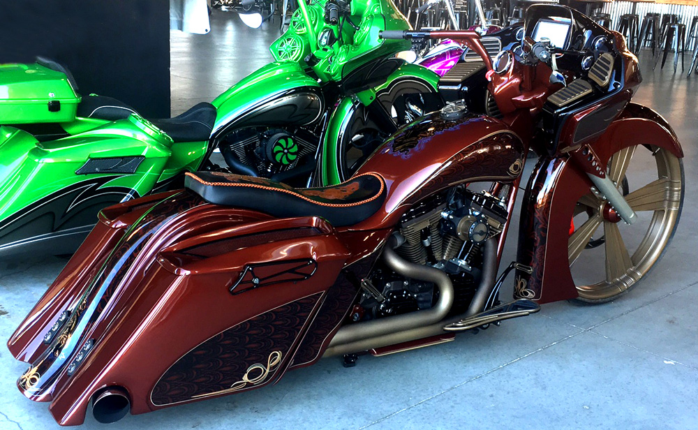Harley Davidson Road Glide From Side