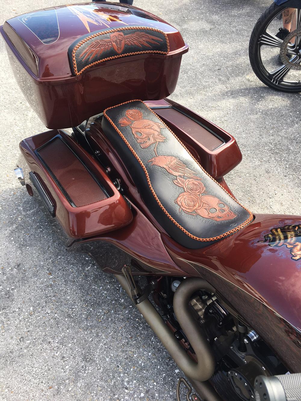 Harley Davidson Road Glide Embroidered Seat