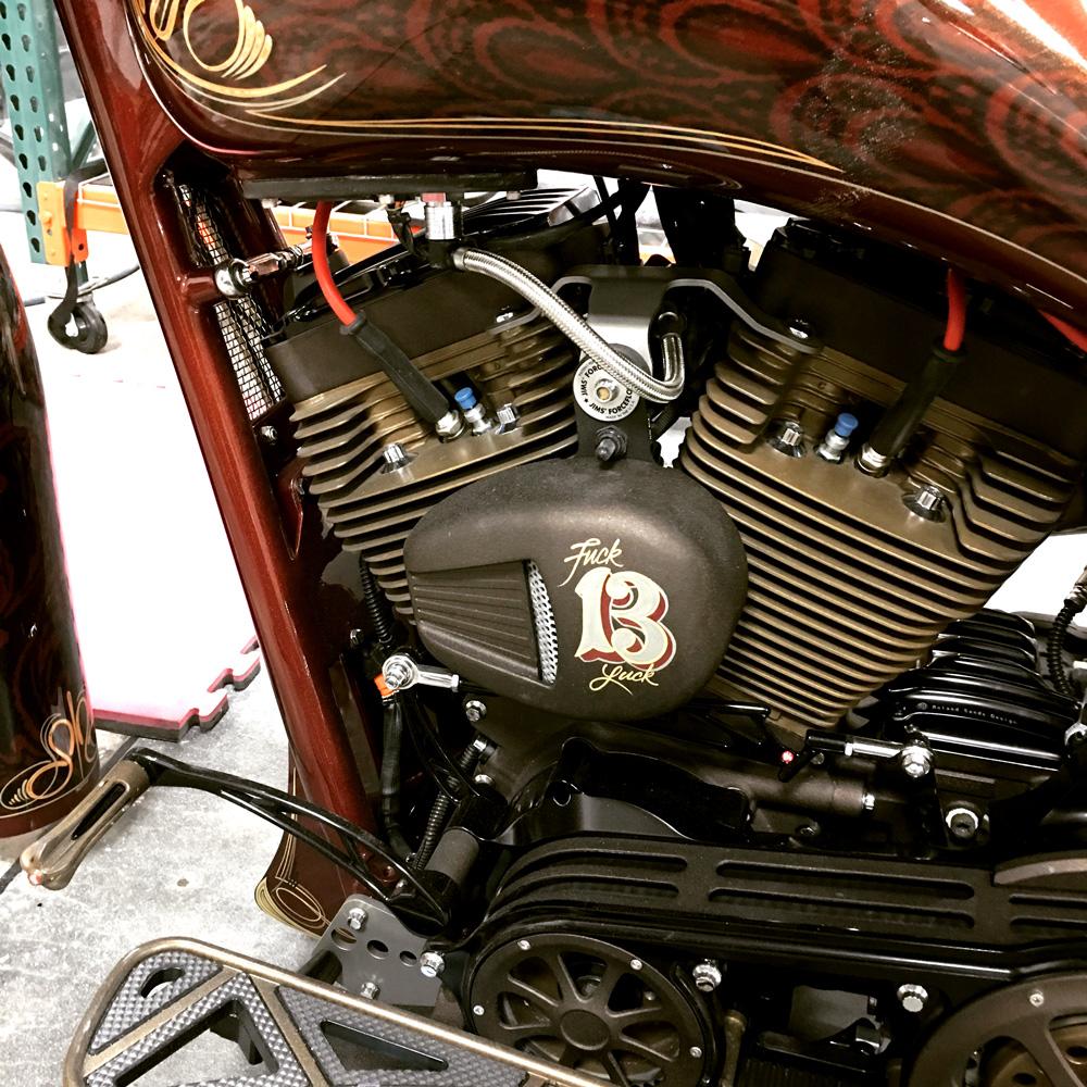 Harley Davidson Road Glide Embellished Engine Block