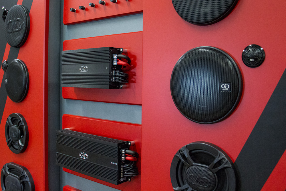 DD Audio Retail Display Up Close