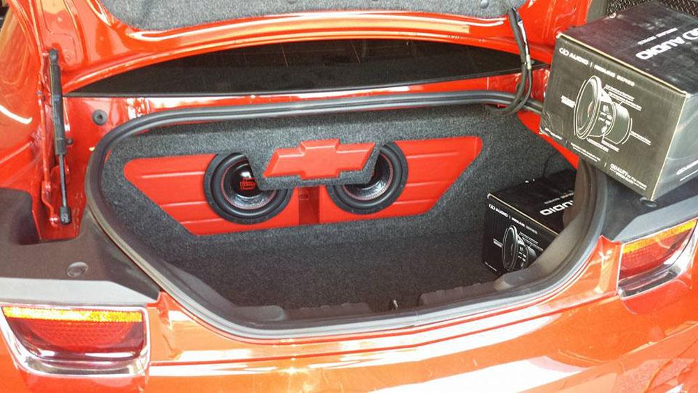 Custom Sound Works - Custom Enclosure in Trunk