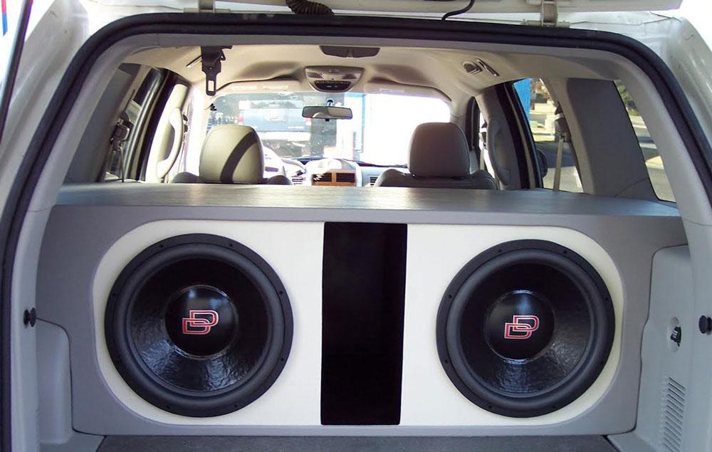 Custom Sound Works - Custom Enclosure in Rear Cargo