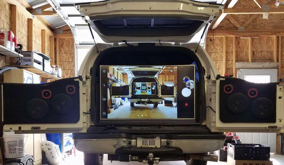 Excursion Flatscreen in Rear Cargo