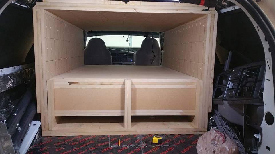 Excursion Enclosure Build Loaded into Vehicle