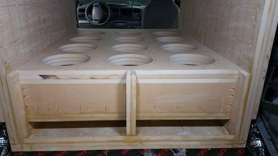 Excursion Enclosure Build Loaded into Vehicle No Subs