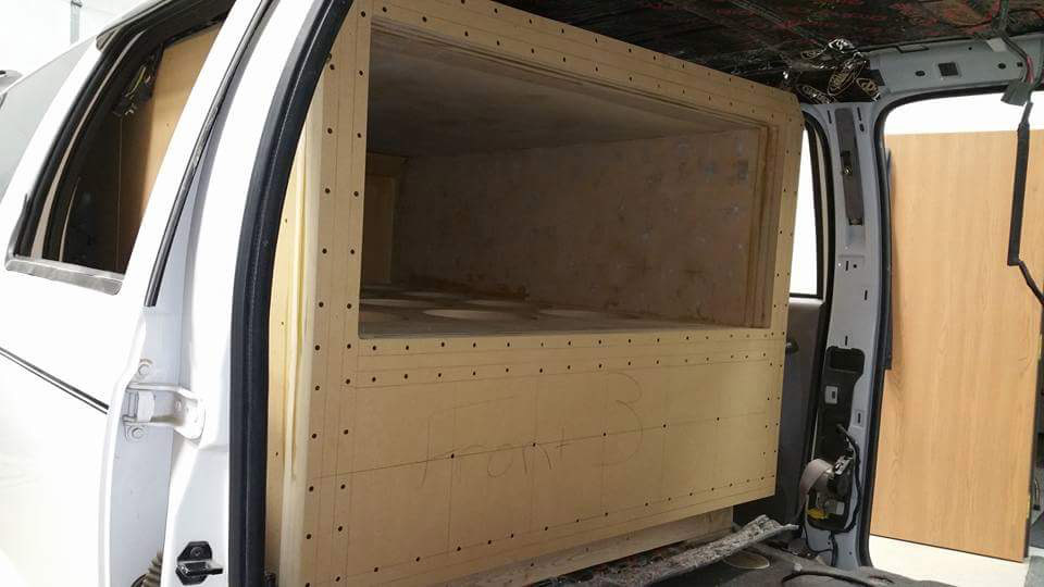 Excursion Enclosure Build Loaded into Vehicle from Front