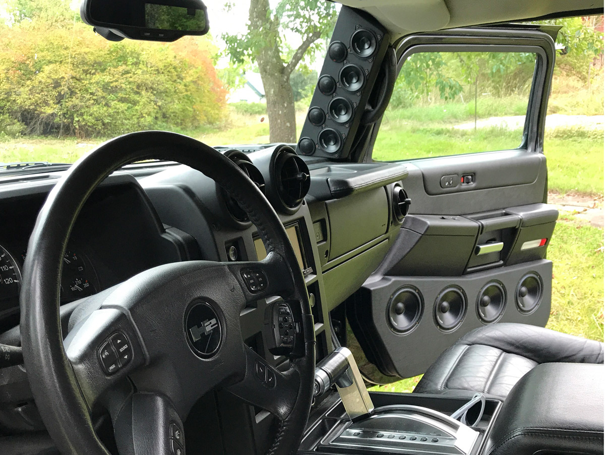 Hummer Passenger Door Speakers