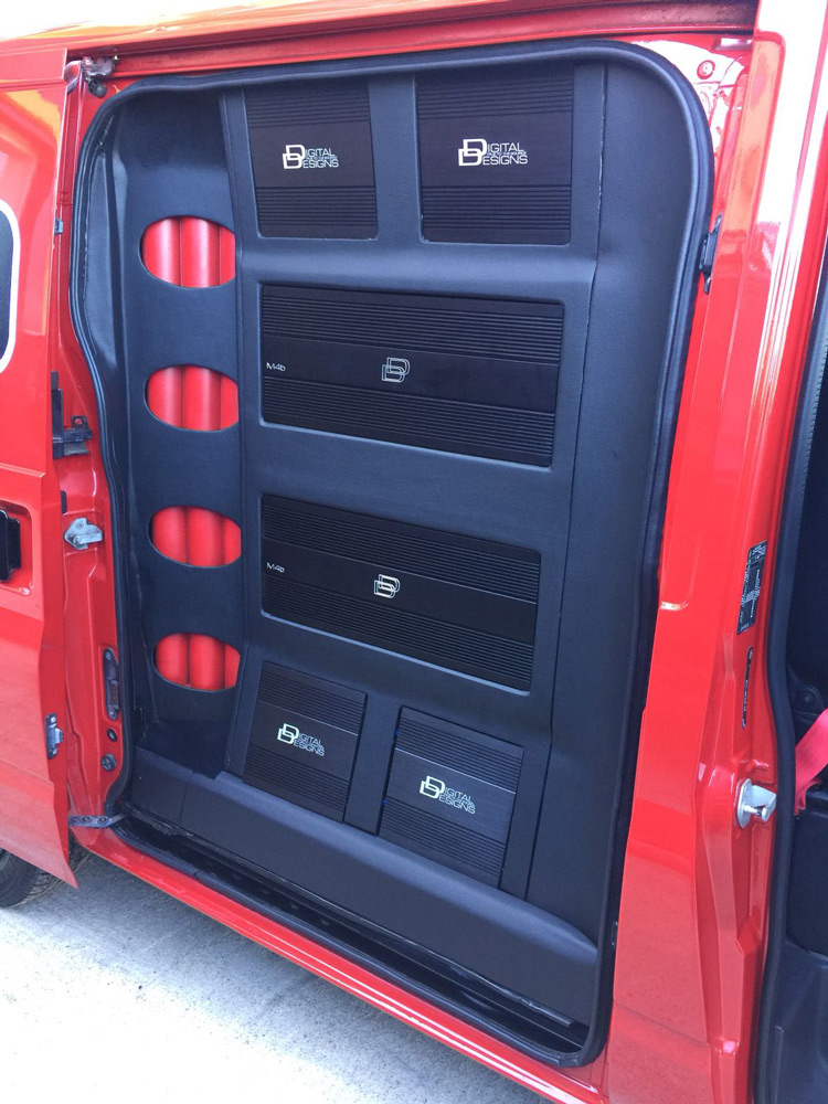Ford Transit - Custom Amp Rack Finished