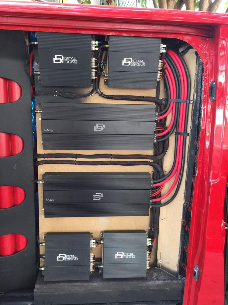 Ford Transit Custom Amp Rack Build