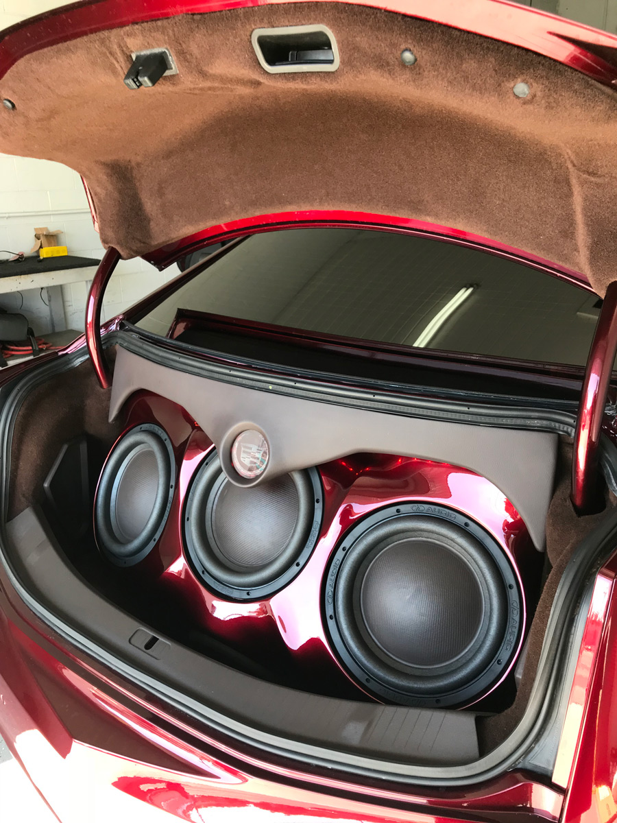 2015 Cadillac XTS - Super Smooth Fabrication Enclosure in Trunk Angled