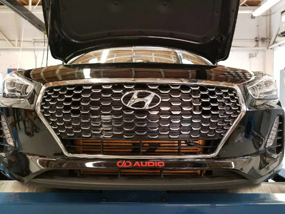 2018 Elantra GT front grill with hood open