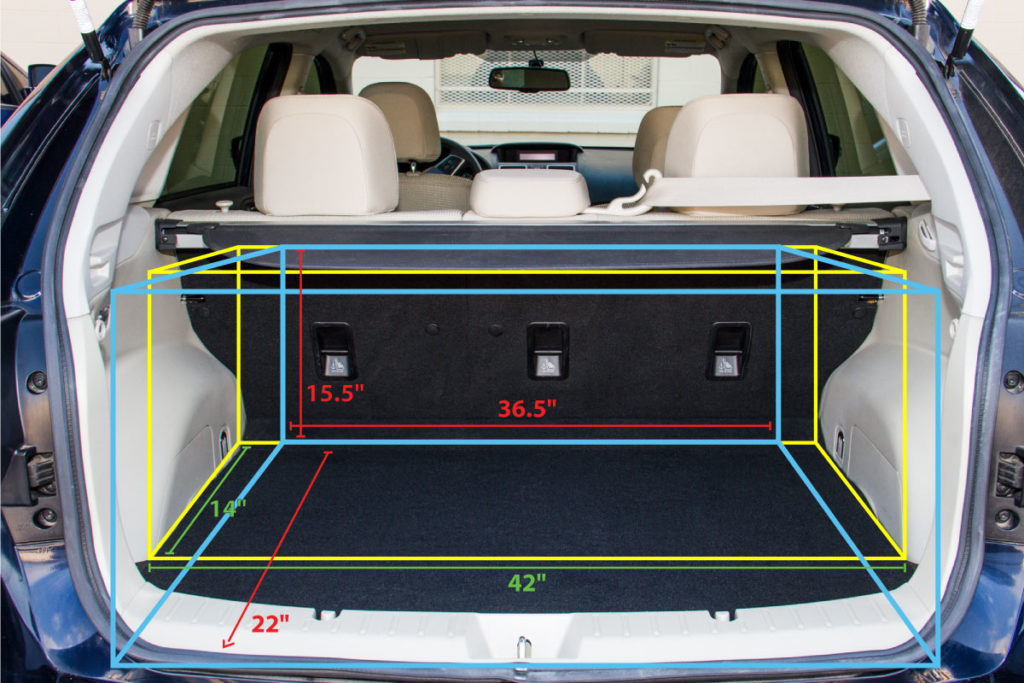 2015 Subaru Impreza Sport Wagon trunk space