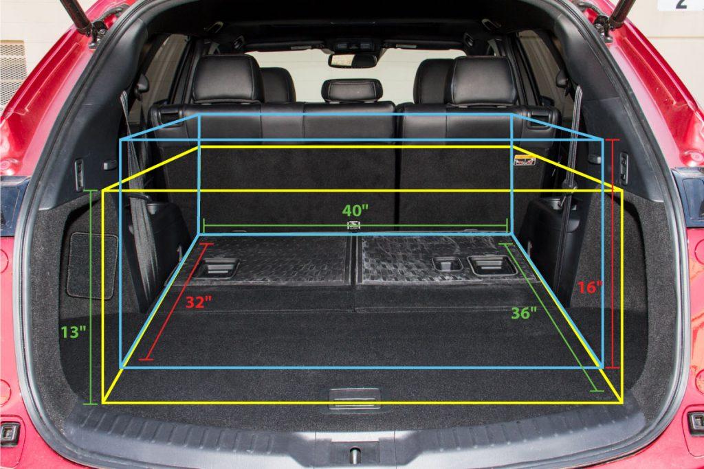 2017 Mazda CX-8 trunk space