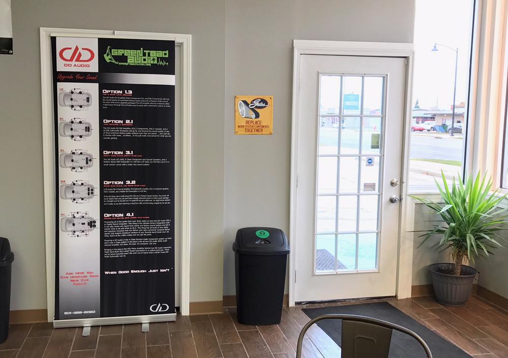 Green Toad Lobby Door