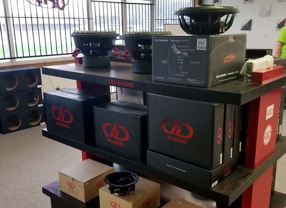 DD Product on Shelves at Car Tunes