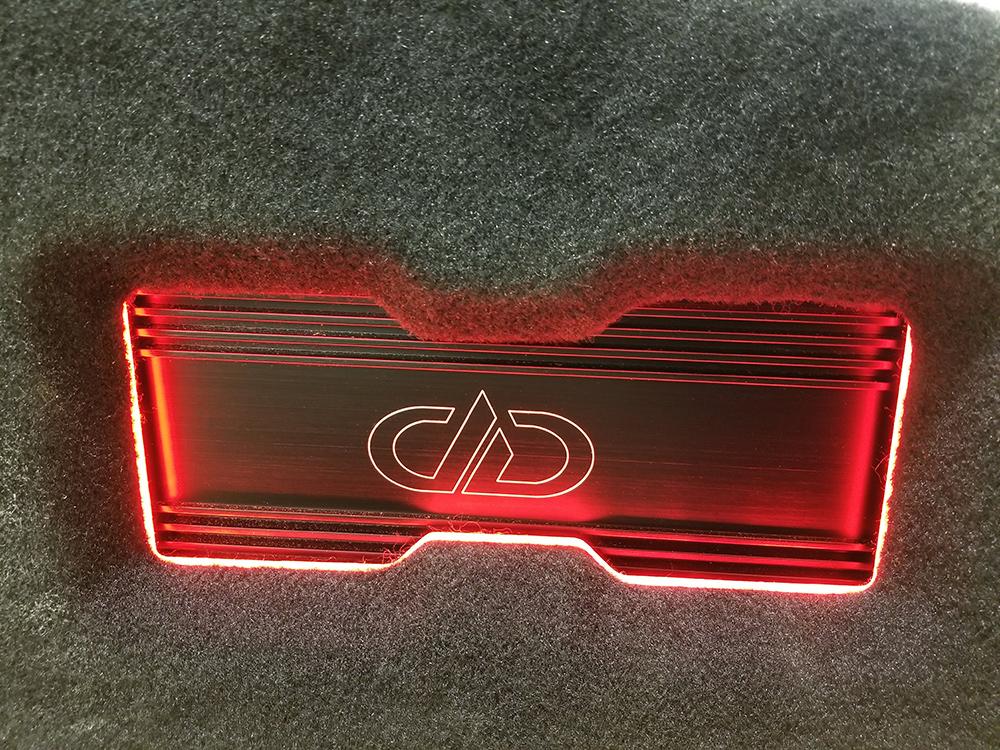 Camaro finished amp fabrication lit up