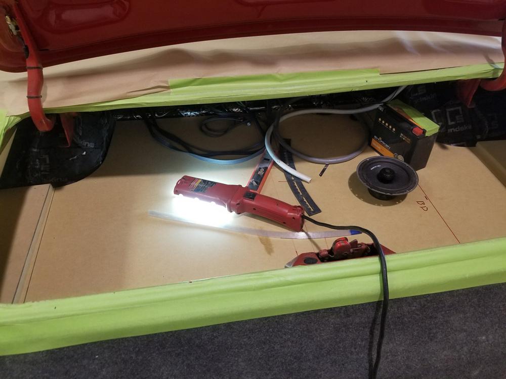 Camaro trunk build