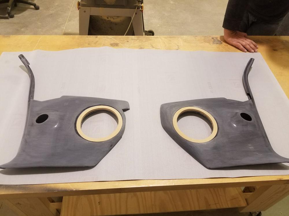 Camaro rear speaker door build