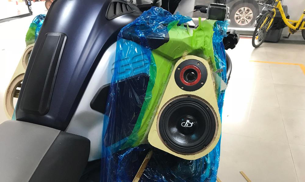Yin Jiang Car Audio - BMW Adventure Bike Speaker Mid Build