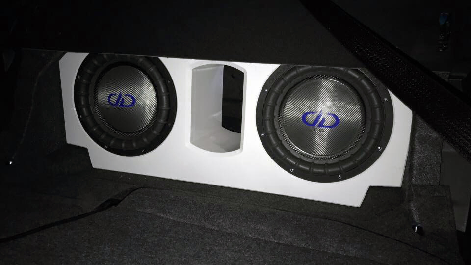 White Enclosure with Subs Installed