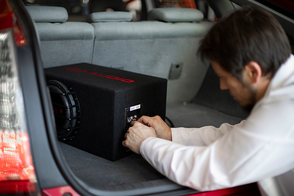 Jabee Toyota Prius Loaded Enclosure Being Installed