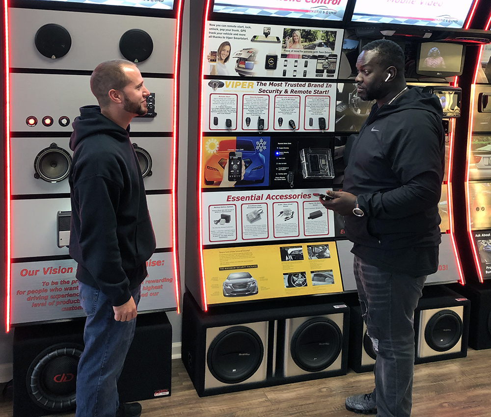 Exotic Sound and Tint Demonstrating Customer Service