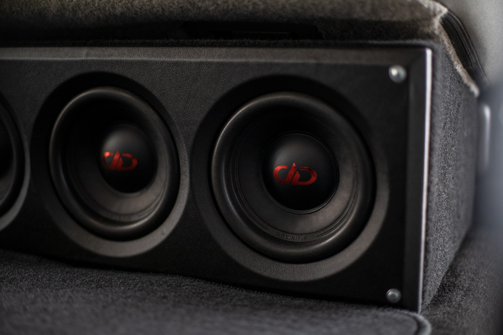 Under-Seat Sub Enclosure from Front Loaded with 506d REDLINE Subwoofers