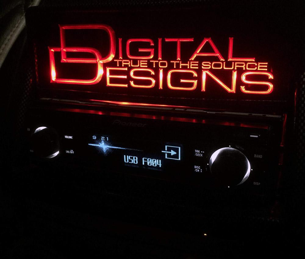 Sei's headunit with Digital Designs logo LED