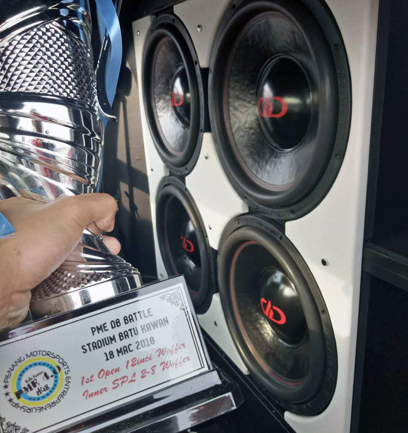 Sei's Subwoofers and trophy