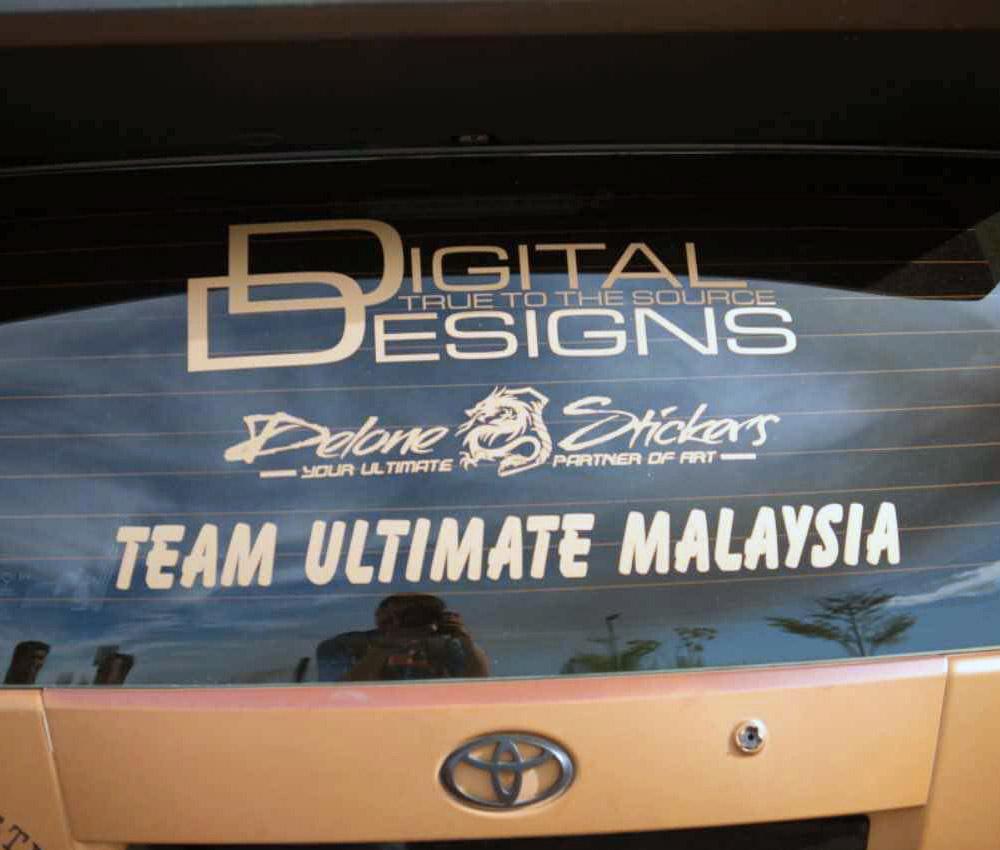 Sei's Toyota Matrix exterior logos