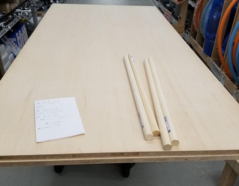 Khalif's GoDDzilla wood on table