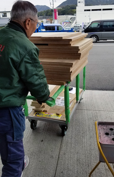 Khalif's GoDDzilla wood on cart