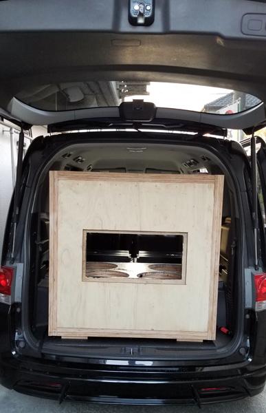 Khalif's GoDDzilla test install in rear cargo