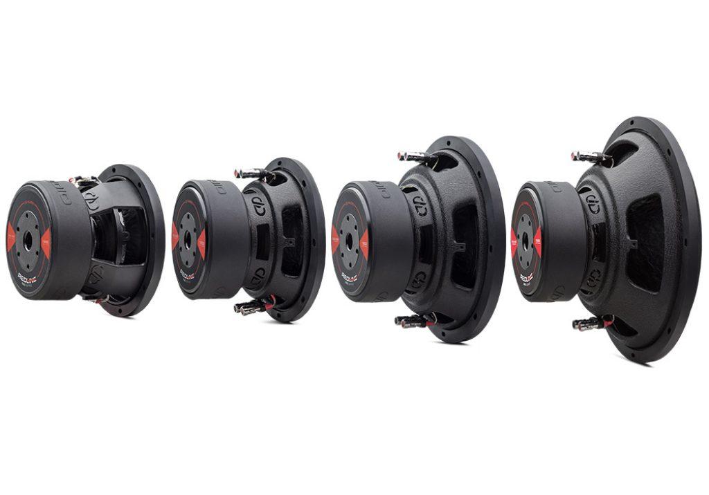 REDLINE 500 Series D Revision Subwoofers angled
