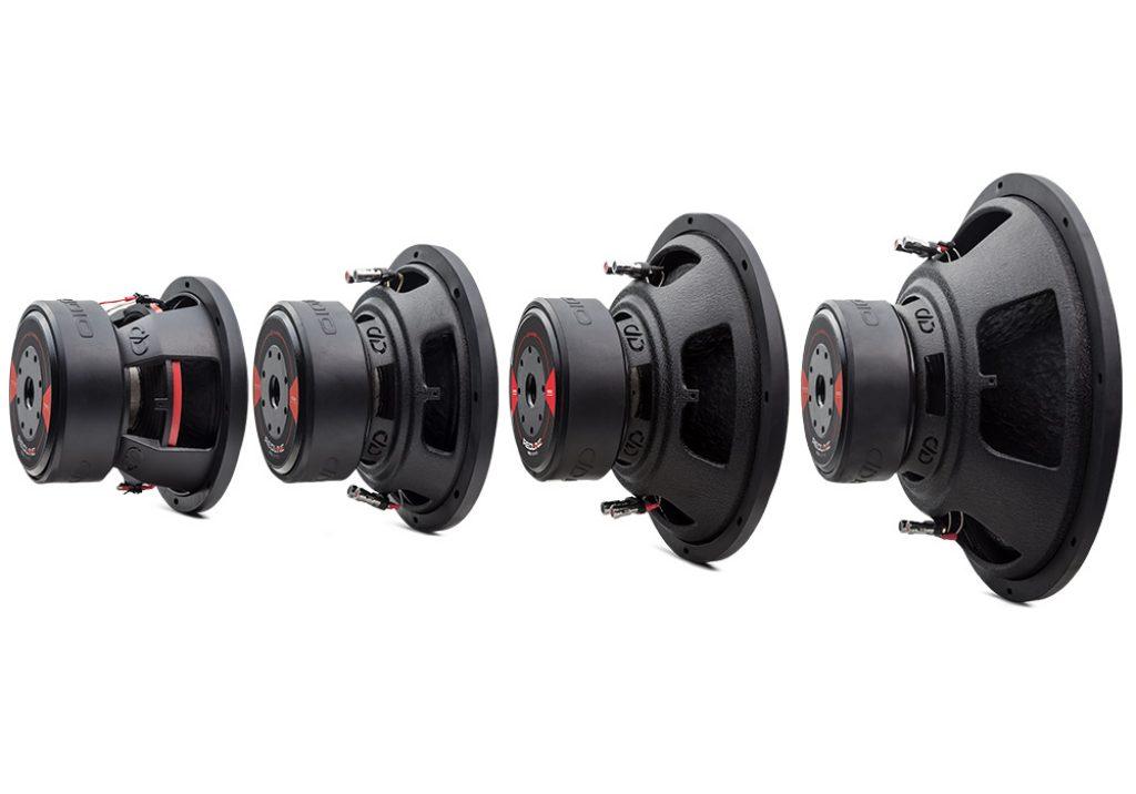 REDLINE 600 Series D Revision Subwoofers angled