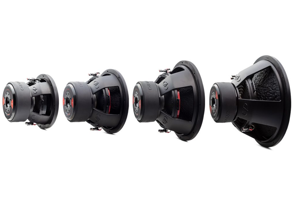 REDLINE 700 Series D Revision Subwoofers angled