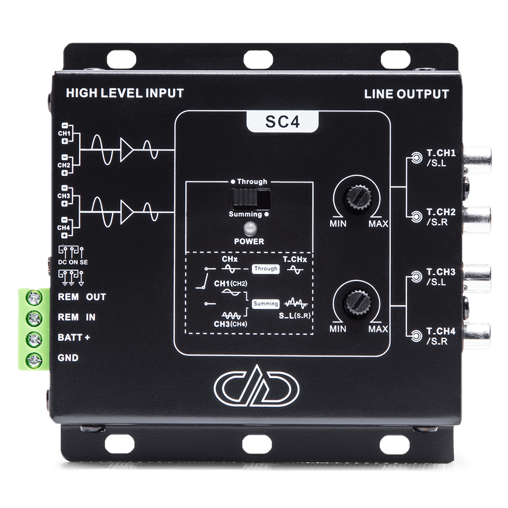 SC4 4ch line output signal converter