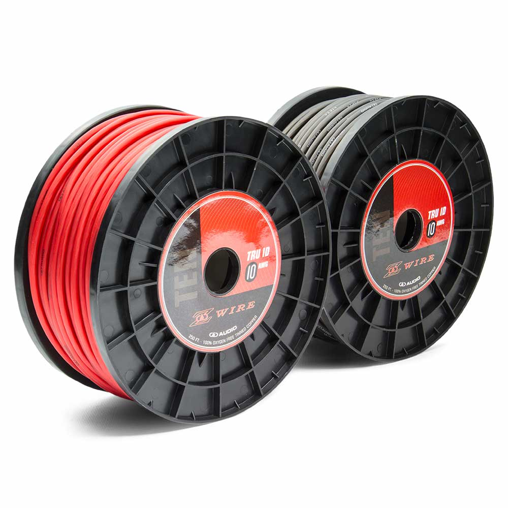 Z Wire 10 awg power wire spools pair