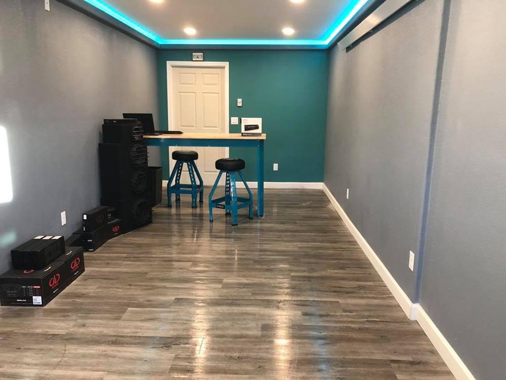 The audio shop lobby