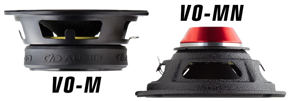 VO-M midrange speaker and VO-MN midrange NEO speaker