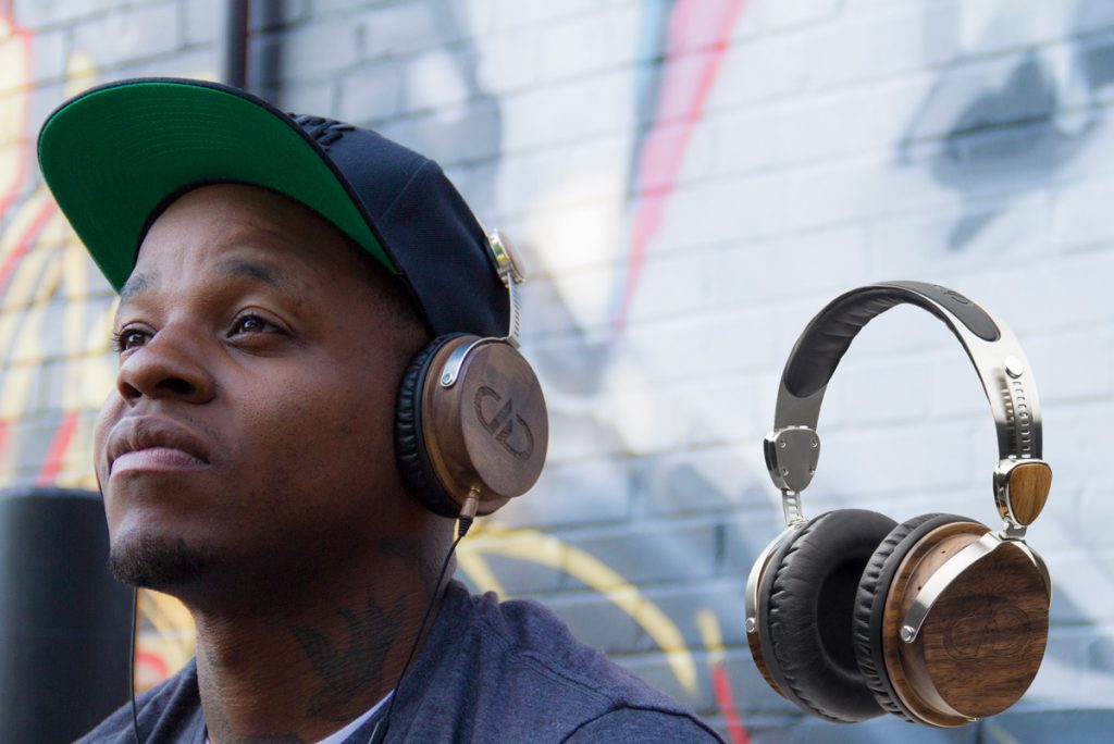 Jabee taking in grooves with his DXB-04 headphones