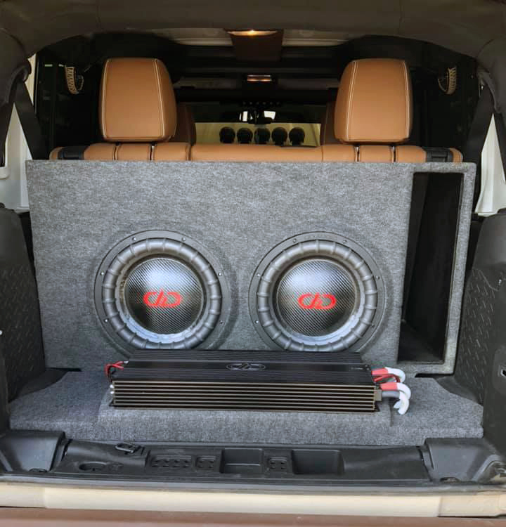Audio Tech Custom Enclosure in Rear Cargo