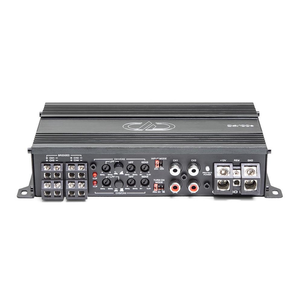 D4.100 4ch Amplifier 3qtr top view
