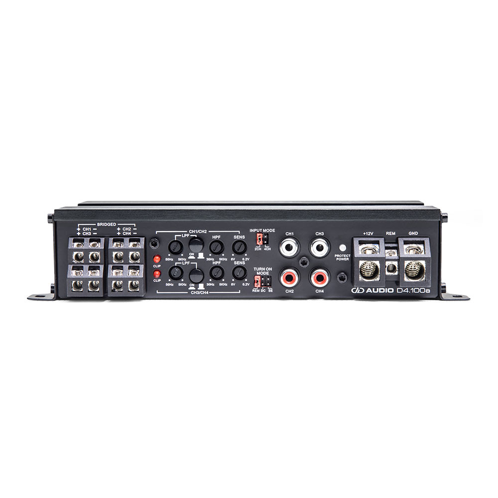 D4.100 4ch Amplifier control panel view