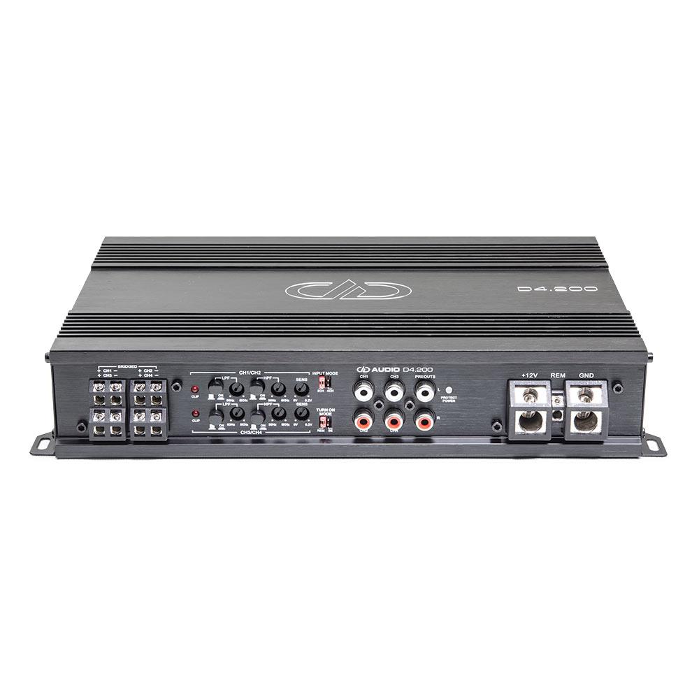 D4.200 4ch Amplifier 3qtr top view
