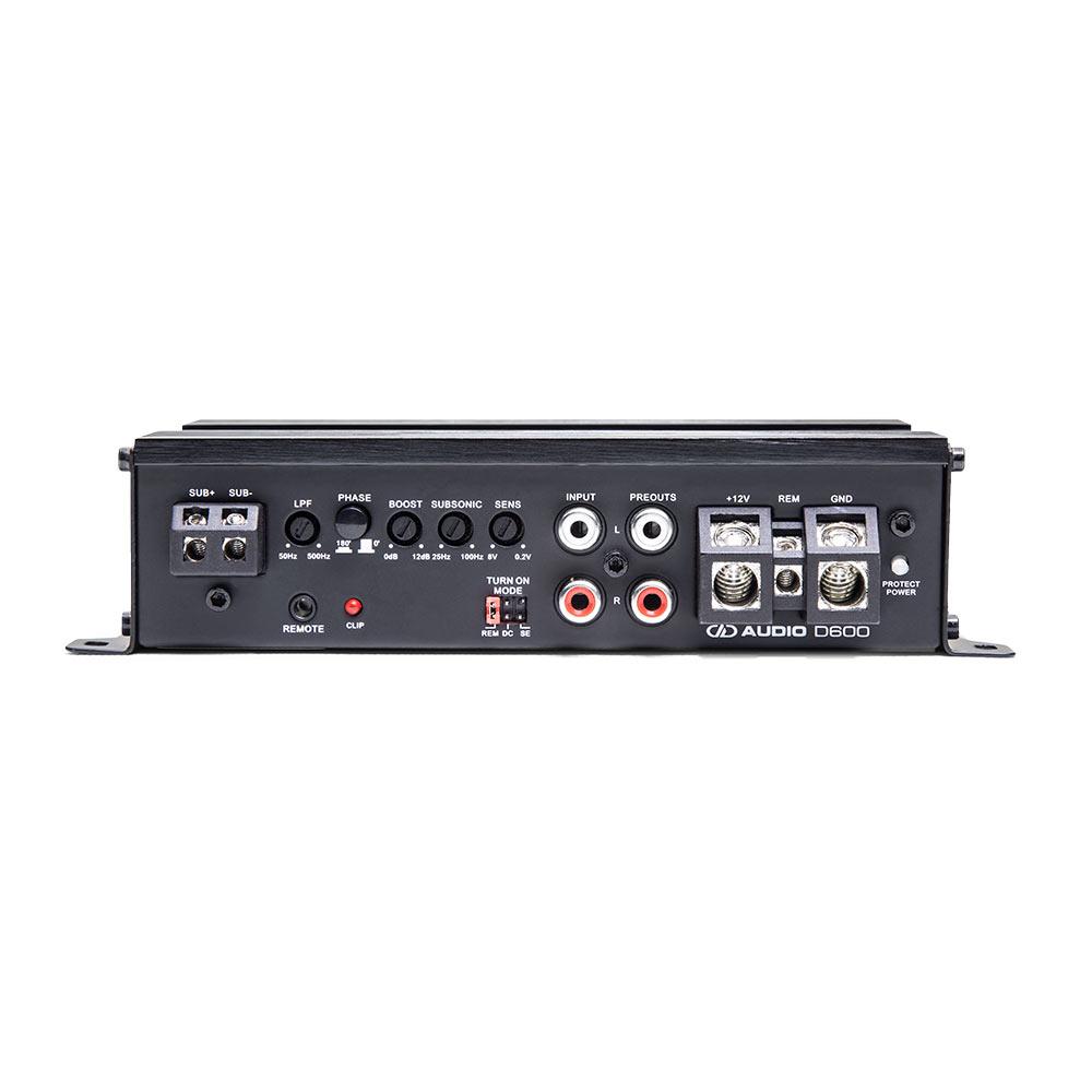 D600 Monoblock Amplifier control panel view