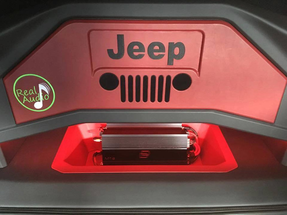 Photo of DD amps in Real Audio Jeep fabrication