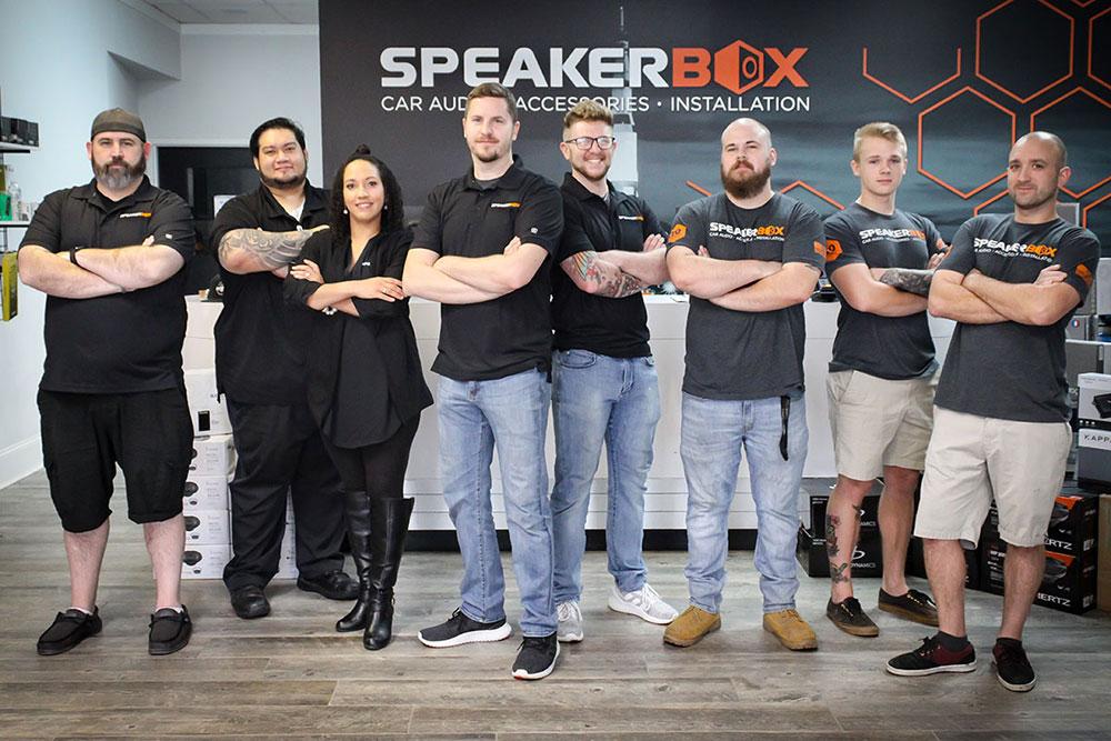 Dealer Spotlight - Speakerbox - Photo of Staff Outside the Store
